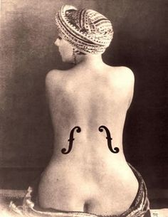 """One of Man Ray's most famous images, depicting Kiki de Montparnasse. """"Man Ray was an admirer of the paintings of Jean-Auguste-Dominique Ingres and made a series of photographs, inspired by Ingres's languorous nudes, of the model Kiki in a turban. Man Ray Photographie, Kiki De Montparnasse, Museum Ludwig, Dora Maar, Francis Picabia, Centre Pompidou, Getty Museum, Photocollage, National Portrait Gallery"""