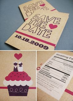 Interesting Save the Date Designs