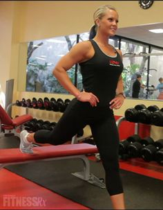 Stiff Legged Dead Lifts & Bulgarian Split Squats to tone your Glutes & Hams - Best Body workout videos with Nicole Wilkins (IFBB Pro)