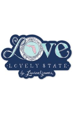 Lauren James Florida Love Sticker