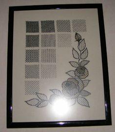 zwart borduren roos