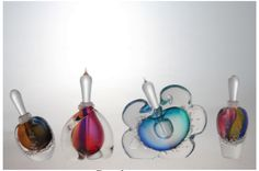 Ship in 2-3 weeks Beautiful handblown perfume bottle, signed by artist Buzz Blodgett, dated and numbered. About the Artist: Buzz Blodgett
