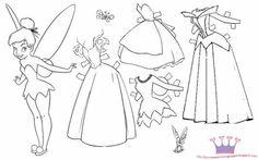 Princess coloring pages (etc)