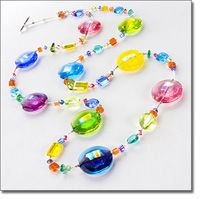 Marco Polo Designs-Rainbow Lollipop 34 Necklace