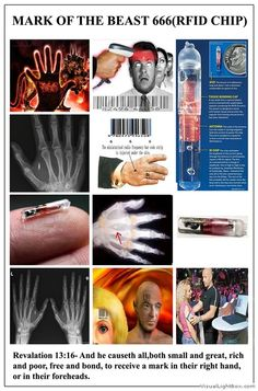 """Microchip...The Holy Bible said that fact, """"...right hand or the forehead,"""""""