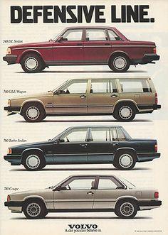1988 Volvo Sedan Wagon Turbo Coupe Automobiles Original Print Magazine Ad