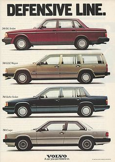 1988 Volvo Sedan Wagon Turbo Coupe Automobiles Original Print Magazine Ad