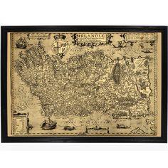 Vintage 1606 Map of Ireland