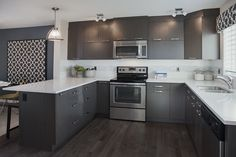 Urban Kitchen Design.  Excel Homes- Kendal(Urban) show home, Copperfield, Calgary