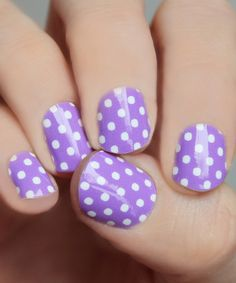 Another great find on #zulily! Lavender & White Mini Dots Nail Wrap - Set of Two by So Gloss Nail Wraps #zulilyfinds