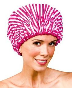 Betty Dain Betty Dain Stylish Design Mold Resistant Shower Cap, The Fashionista Collection, Pink Peppermint, Ounce (bestseller) Body Shower, Shower Cap, Beauty Care, Beauty Hacks, Beauty Tips, Hair Foils, Elastic Satin, Peppermint, Bath And Body