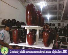 La prestancia y calidad de la artesania amazonica-Mercado Artesanal de Iquitos, Loreto, PERU
