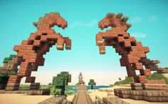 Dothraki Horses Minecraft Sculpture