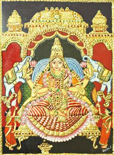 Lakshmi Hai | Tanjore Paintings - Best Deals at Guarenteed Quality: Goddess Lakshmi