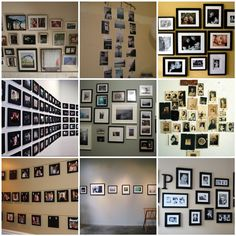 I have a very long hallway that leads from the front of my house to the back and trying to collect ideas for a fun photo wall.