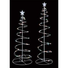 3 ft. and 4 ft. Pre-Lit LED Light Spiral Trees Multi Color Lights (Set of 2)-R0404214X at The Home Depot