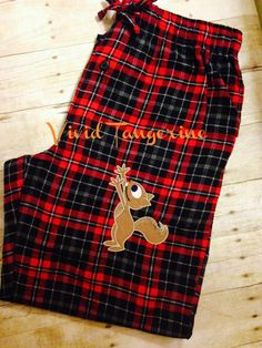 Memorable Photo Christmas Pajama Pants Mens Lounge Pants (L) Squirrel pants . This is a very funny gift to give to your husband haha!