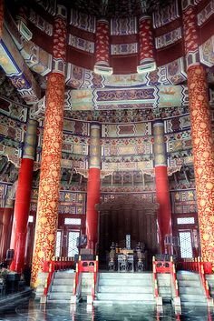 China, Beijing, Temple of Heaven on today's tour. Park was full of Chinese playing cards and singing. Cool