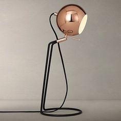 Buy John Lewis Isaac Ball Task Light, Copper Online at johnlewis.com