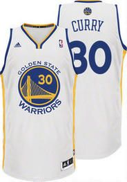 NBA Golden State Warriors Stephen Curry #30 White Adidas Jersey