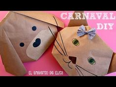 DIY, Cómo Hacer un Sombrero Máscara de Perro o Gato para el Carnaval para Niños y Adultos, - YouTube