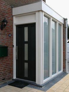 Front Door Porch, Front Porch Design, Replacing Front Door, Porch Extension, Glass Porch, Dark House, Bedroom Windows, Ramen, Entrance