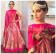 Sonam Kapoor who looked GORGEOUS at the Screen Awards, might have skipped the red carpet since we still don't have pictures. Like Deepika, Sonam also opted for Indian wear and stayed true to...