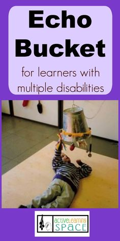 Make your own echo bucket to promote language development with learners who have multiple disabilities. Life Skills Activities, Activities For Adults, Music Activities, Sensory Activities, Therapy Activities, Multiple Disabilities, Learning Disabilities, Pediatric Physical Therapy, Occupational Therapy
