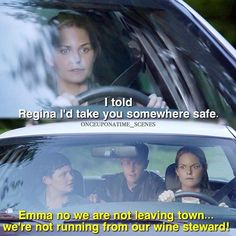 """Emma, we're not running from our wine steward!"" - Snow, David and Emma #OnceUponATime (by onceuponatime_scenes)"