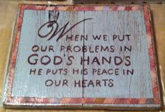 Painted Board Handmade by Ruthie