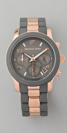 want.  gray & rose gold.  michael kors.