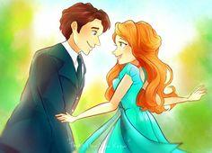 Enchanted- Giselle and Robert All Disney Princesses, Disney Films, Disney And Dreamworks, Disney Pixar, Walt Disney, Disney Ships, Disney Characters, Enchanted Movie, Giselle Enchanted