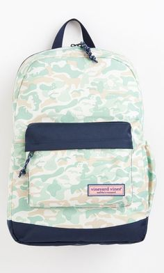 Shop backpacks at vineyard vines Simply Southern Backpack, Camo Backpack, Boys Backpacks, Things To Buy, Nice Things, Classic Man, Herschel Heritage Backpack, Camo Print, Fashion Backpack