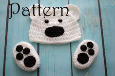 Crochet PATTERN  Newborn to 12 months Bear hat by Stephyscrochet, $5.50