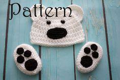 Crochet PATTERN  Newborn to 12 months Bear hat by Stephyscrochet, $5.50