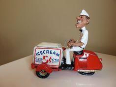 Ice Cream Man Truck Delivery Figurine Resin W. Stratford Grumpy Jon 8 in.New