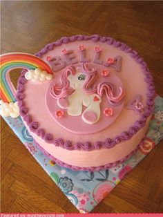 Awww!! I loved My Little Pony when I was little! I want a cake like this!
