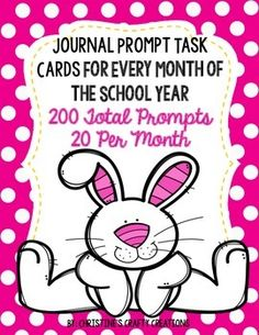 * 200 writing prompts for every month of the school year!* Prompts written on Task Cards for center activities, morning work assignments, homework assignments, or during writing time.*20 for Months August- June (5 extra in June if you would like to use them in May).