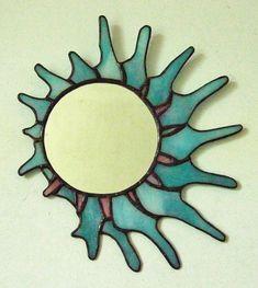 Stained glass #sunburst #mirror, 235mm x 275mm.