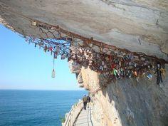 Cinque Terre, Via Dell' Amore and love padlocks.