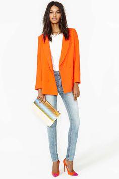 Line & Dot Till The Sun Blazer | Shop Jackets + Coats at Nasty Gal
