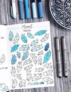 Mood tracker by @thuys.bujo | Bullet journal inspiration