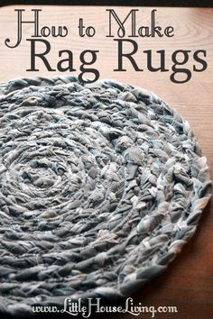 How to Make Rag Rugs. Fun diy project to try with old fabric or sheets.