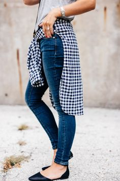 Skinnies and button-ups. Fall essentials.