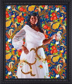 Kehinde Wiley heroic portraits which address the image and status of African-American individuals in contemporary culture