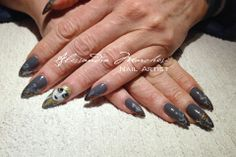 Nail art on gel nails: steampunk girl. Done by Alessandra Marchesi Nail Designer, and inspired by the amazing Robin Moses!