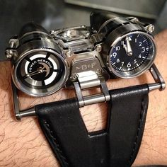 #MB HM4 Thunderbolt the original #watch in the flesh and on the wrist. I still love it. None of this design will be made after 2013. 100 movements total.