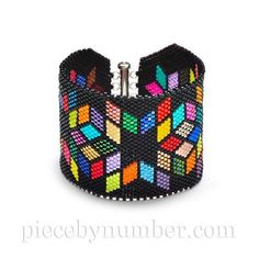 (5) Name: 'Jewelry : Delica Diamonds Bracelet Chart-peyote