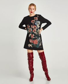 ZARA - WOMAN - PRINTED RUBBERISED DRESS