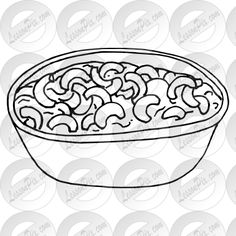 Macaroni and Cheese Outline for Classroom / Therapy Use - Great Macaroni and Cheese Clipart Outline, Macaroni And Cheese, Image Search, Therapy, Carving, Clip Art, Plates, Tableware, Stamps